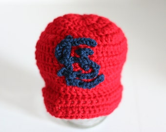 St.  Louis Cardinals hat for baby, Newborn hat, Cardinals baby, baby boy hat, baby girl hat, baby gift, Newborn to 12 month sizes
