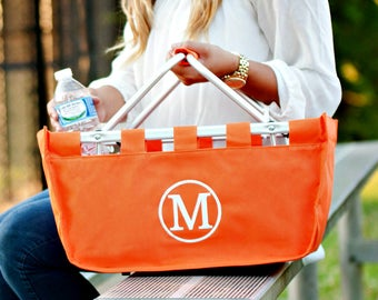 Large Market Tote in Orange