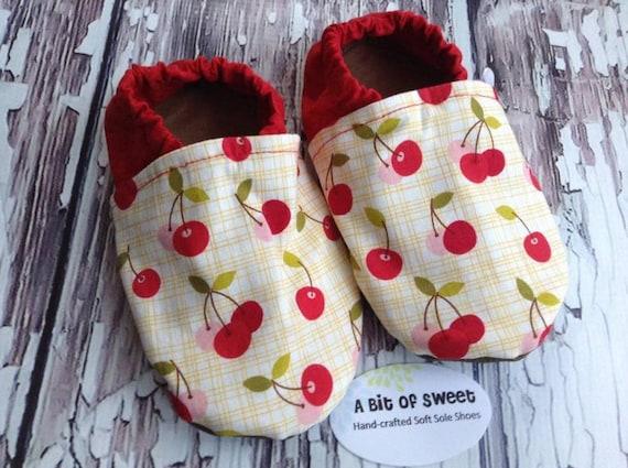 Cherries Soft Sole Shoes Size 3t