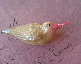 Charming antique French timeworn bird Christmas decoration c1910 BELLE BROCANTE Perfect for projects