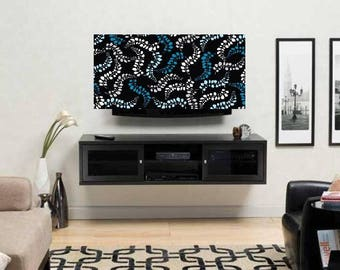 TV Cover - Screen Cover - Ocean Themed Television Cover - Seaweed