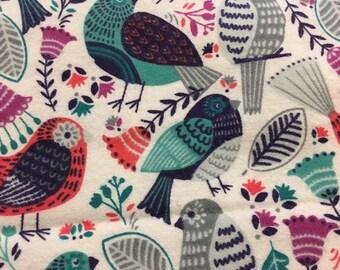 Birds   - Flannel Fabric - BTY