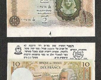 CHEWING BUBBLE GUM Unique Vintage 2 Chewing Bubble Gum Wrapper Banknotes lot