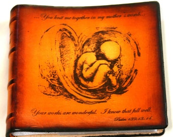 Leather Baby Keepsake  and Ultrasound Journal