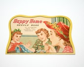 Vintage Happy Home Needle Book, Vintage Advertising, Vintage Sewing Needle Book