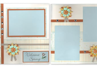 12x12 2pg. Layout - Welcome Spring