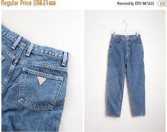 20% SALE vintage 1980s Guess jeans - 80s high waisted jeans / 80s designer jeans - Guess Jeans logo denim / vintage denim cutoffs - ladies 2