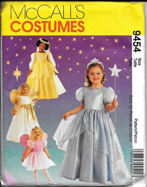 McCall\'s 9454 Childs Girls Pretty Princess & Angel Fairy Costume ...