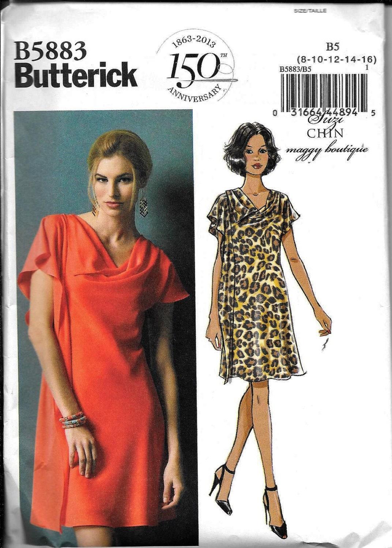 Butterick b5883 dress suzi chin maggy boutique sewing pattern 5883 375 shipping jeuxipadfo Image collections