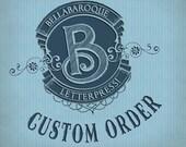 Custom Order for Stacy