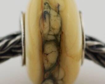 Black Lace on Ivory - TB Bracelet Bead