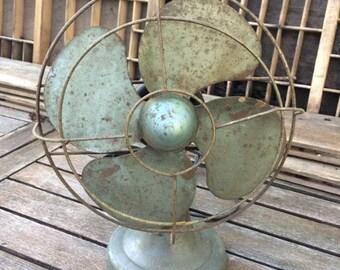 """FLASH SALE! 25% off when you enter """"25FLASH"""" - Vintage Polar Cub Green Oscillating Fan"""