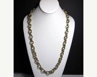 ON SALE Joan Rivers Double Chain Necklace -Gold PLated Chain-Signed Joan Rivers