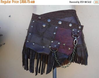 "20%OFF bohemian tribal gypsy fringed leather belt..33"" to 41"" waist or hips.."