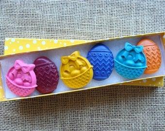 Crayons - EASTER BASKETS & EGGS - Set of 6 - Easter Basket Filler