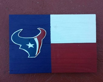 Free shipping!  A Texas Map Style with a Houston Texan logo