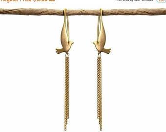 20% off. Free Bird Dove Earrings. Triple Chain Drop Earrings. Three Chain Dangle Earrings. Gold or Silver.