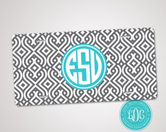 Monogrammed License Plate, Personalized Car Tag, Monogram Front Plate, Sweet 16 gift, Teen Gift, Custom Car Tags License plates