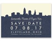Skyline Save the Date Postcards