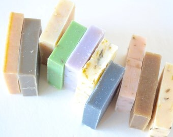 Handmade Soap Sample Pack; Natural Soap Set; Bath Set; Gift Under 20; Secretary; Co-worker; Holiday Gift; Stocking Stuffers; Christmas Gift