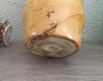 Hand Turned Hickory Bud Vase
