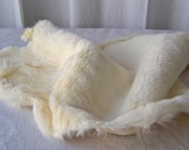 Rabbit Pelt White Rabbit Fur Hide Leather Crafts Pelts Furs