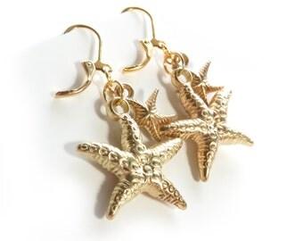 Starfish Gold Earrings