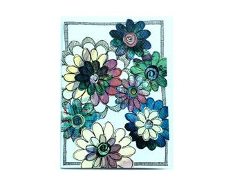 Paper Flower Garden Series on White (PFGW-0008)