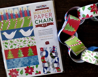 Christmas craft kits, Christmas crafts for kids, Paper chain,  DIY Christmas decorations, Holiday crafts, Xmas crafts, Christmas garland