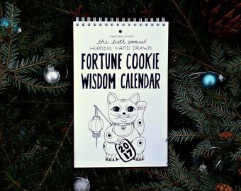2017 Fortune Cookie Wisdom Calendar, Wall calendar 2017, 2017 calendar, funny calendar, Christmas gift ideas, Stocking stuffer, Secret santa