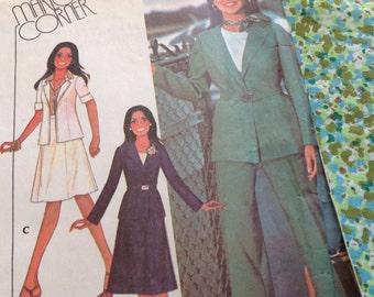 Vintage Mccalls Pattern 4965, Marlo Thomas Pattern, Marlo's Corner, pants pattern, skirt pattern