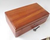 Vintage Lane Cedar Box Chest  With Key
