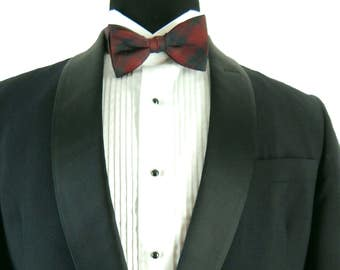 Vintage 50s - early 60s After Six Tuxedo Jacket. Narrow Satin Shawl Collar. Single Button Closure. 39 40