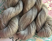 Linen Yarn, Lace Weight, Gray, 3.5 oz/100 g, 635 yards/580 m, 100% Linen, Super Strong, Drapey, Light, Natural Fiber Yarn, Vegan Yarn