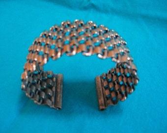 Copper basket weave bracelet Renoir