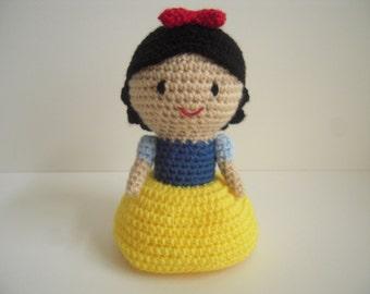 Crocheted Handmade Amigurumi Snow White Doll