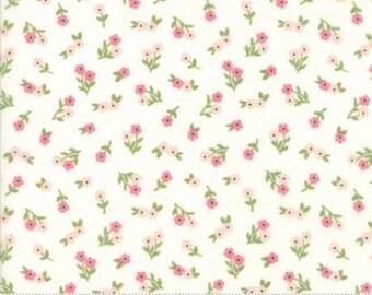 Sugar Pie White with Pink Posies 5042 11 by Vanessa Goertzen of Lella Boutique for Moda