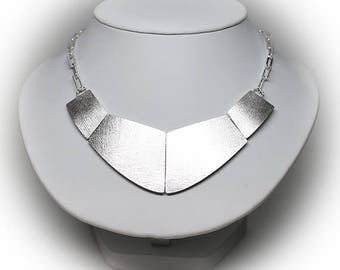 Sterling Silver Bib Necklace