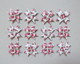 Moravian Stars (12): Rose Patterns  3 inches wide