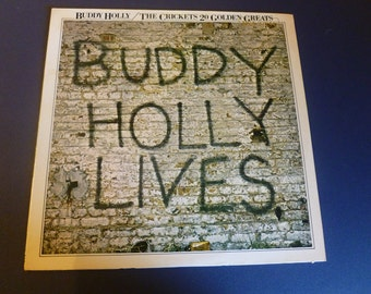 Buddy Holly Lives/The Crickets Vinyl Record MCA-3040  MCA Records 1978