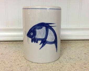 Fish Pottery Vase, Fish Ceramic Container