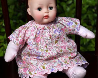 12 inch Corolle Doll Dress and Bloomers, 12 inch Huggums Doll Dress and Bloomers, Pink and Lavender Doll Dress with Matching Bloomers