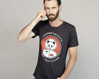 Space Panda China Black Men Tshirt