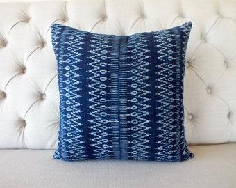 SALE, Vintage Indigo batik Hmong cushion cover, Handmade Batik Fabric,Decorative Cushion,Throw Pillow,Decorative Pillow