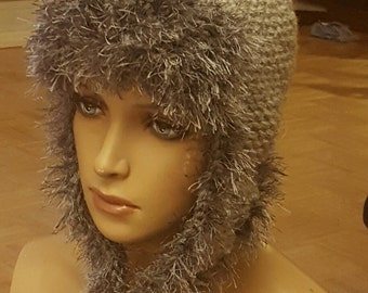 Trapper Hat w/Earflaps & Fur - MADE TO ORDER