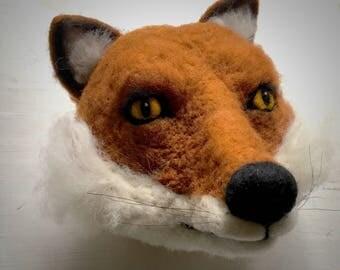 needle felted fox head