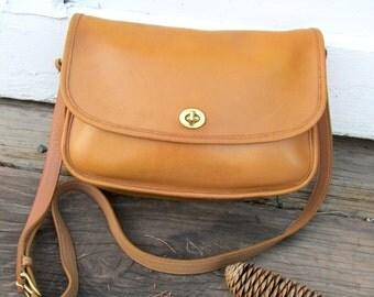 Vintage Coach Bag • COACH City Bag • Tan Leather • 1990s • 9790