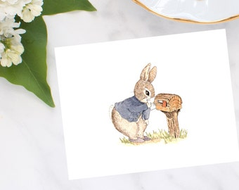 Mailbox Bunny Note Cards