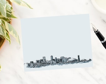 New Orleans Skyline Note Cards