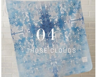 Those Clouds  -Watercolour Baby Blanket Minky